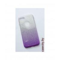 Чехол для iPhone 8 силикон с мерцанием и градиентом