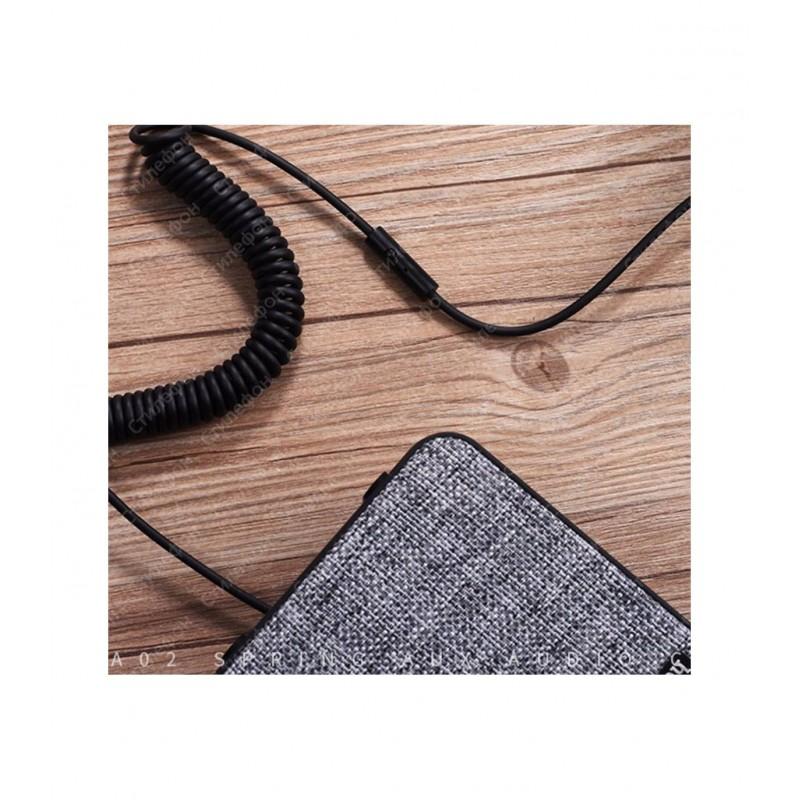 Кабель HOCO UPA02 AUX Spring Audio cable с Микрофоном 2M