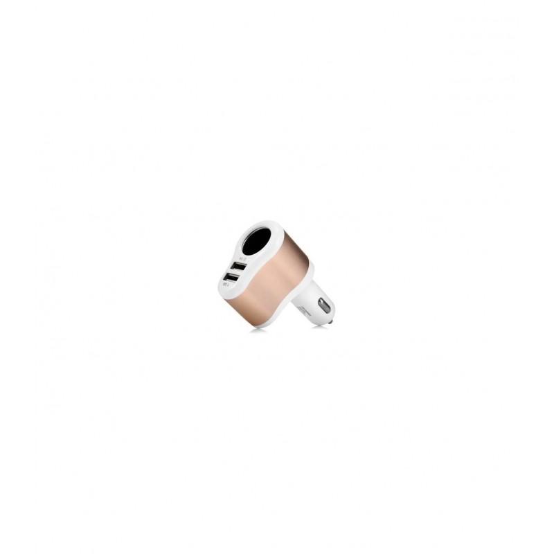 Автомобильное зарядное устройство Hoco UC206 двойное USB белый 3.1A