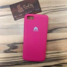Чехол Silicone case для Huawei/Honor Y9 2019, ярко розовый