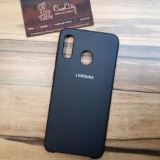Чехол Silicone case для Samsung Galaxy A10 черный