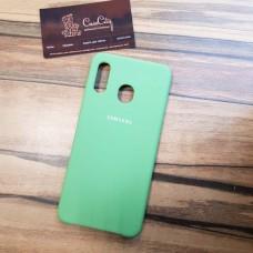 Чехол Silicone case для Samsung Galaxy A10, зеленый
