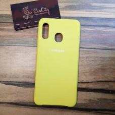 Чехол Silicone case для Samsung Galaxy A10, желтый