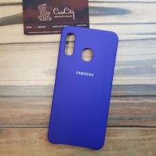 Чехол Silicone case для Samsung Galaxy A10, фиолетовый
