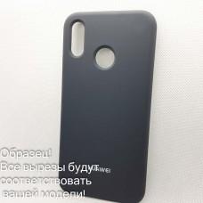 Чехол Silicone case Huawei Y 6 Prime 2018 (# 15), серый