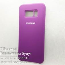 Чехол Silicone case Huawei Y 6 Prime 2018 (# 45), фиолетовый