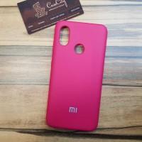 Чехол Silicone case для Xiaomi Mi 9, ярко розовый