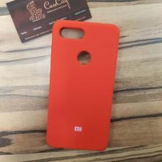 Чехол Silicone case для Xiaomi Redmi 7, красный