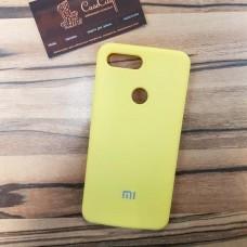 Чехол Silicone case для Xiaomi Redmi 7, желтый