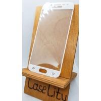 Защитное стекло для Samsung Galaxy J5 (2017) J530, полноэкранное белое