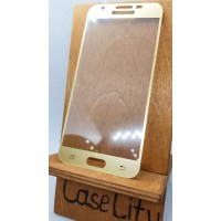 Защитное стекло для Samsung Galaxy J3 (2017) J330, полноэкранное золотое