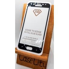 Защитное стекло для Samsung Galaxy J2 (2018), полноэкранное черное Full Glue