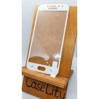 Защитное стекло для Samsung Galaxy J2 (2018), полноэкранное белое