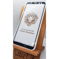 Защитное стекло для Samsung Galaxy A6+ (2018), полноэкранное черное Full Glue