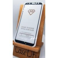 Защитное стекло для Samsung Galaxy A6 (2018),  полноэкранное черное Full Glue