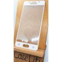 Защитное стекло для Samsung Galaxy A3 (2016) A310,  полноэкранное белое