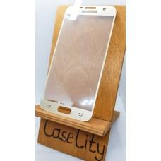 Защитное стекло для Samsung Galaxy S7,полноэкранное золотое