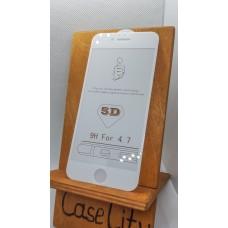 Защитное стекло для Apple iPhone 6/iPhone 6s полноэкранное белое