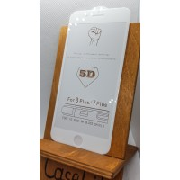 Защитное стекло для iPhone 7 Plus/ iPhone 8 Plus полноэкранное full glue белое