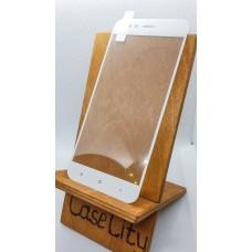 Защитное стекло для Xiaomi Mi A1 (5X) полноэкранное белое
