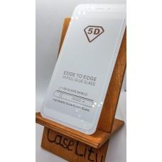 Защитное стекло для Xiaomi Mi A2 (Mi 6X), полноэкранное белое Full Glue