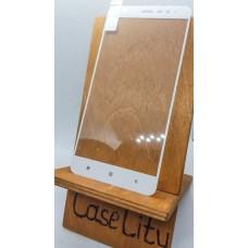 Защитное стекло для Xiaomi Redmi Note 3/Redmi Note 3 Pro полноэкранное белое