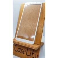 Защитное стекло для Xiaomi Redmi 6 полноэкранное белое