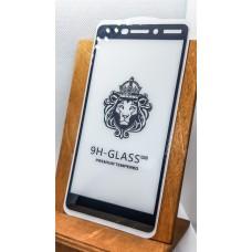 Защитное стекло для Nokia 6.1  полноэкранное   full glue черное