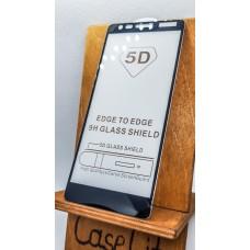 Защитное стекло для Nokia 3.1  полноэкранное   full glue черное