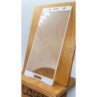 Защитное стекло для Sony Xperia XZ2 Compact , полноэкранное  белое